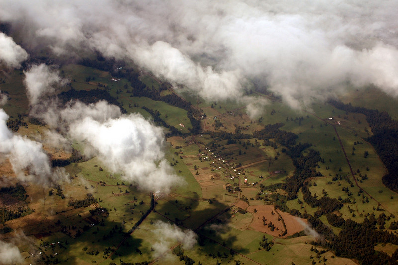 From the air; near Puerto Montt