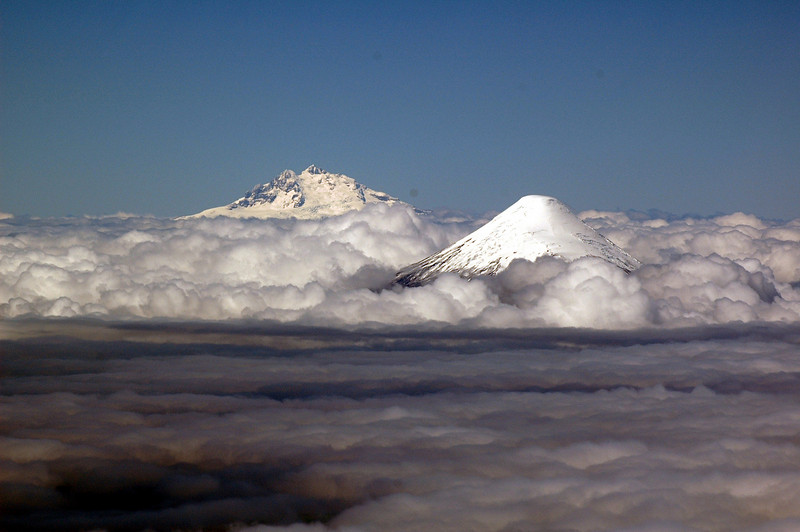 Peaks above the clouds
