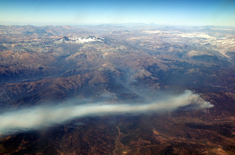 Wildfire from the air