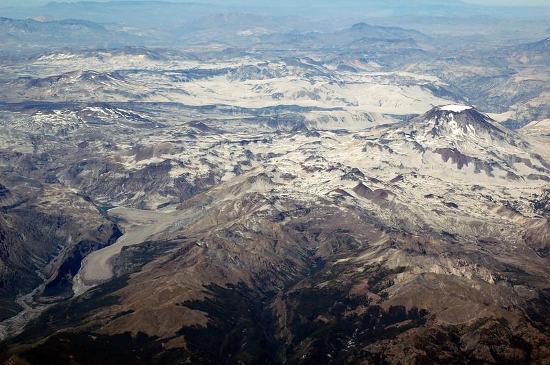 Volcano and glacier