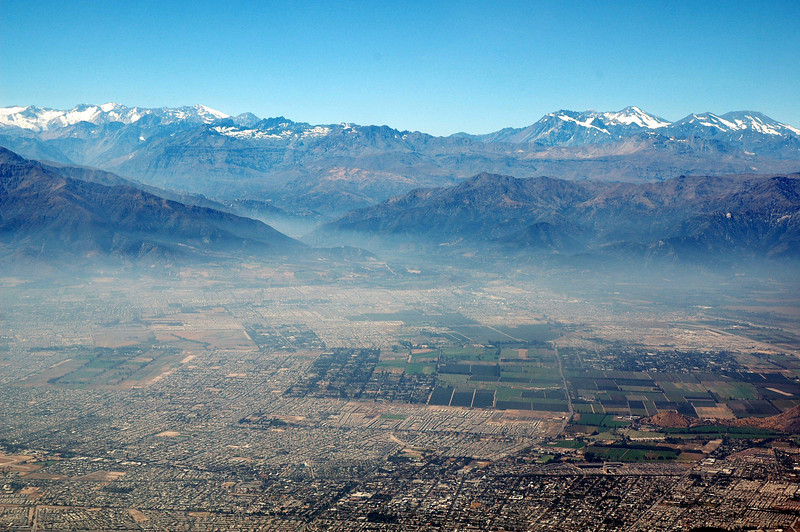 Santiago from the air