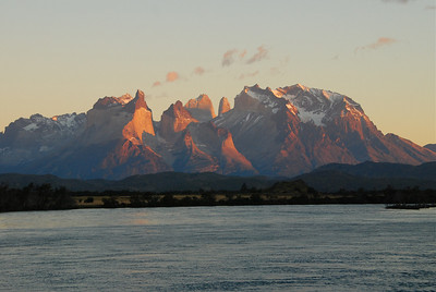 The  Cuernos at sunrise