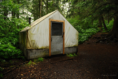 Kitchen Tent, Finnegan's Point, Chilkoot Trail