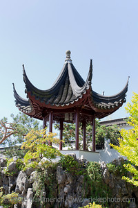 Pagoda in Chinese Garden - Dr. Sun Yat-Sen Classical Chinese Garden, Vancouver, British Columbia, Canada