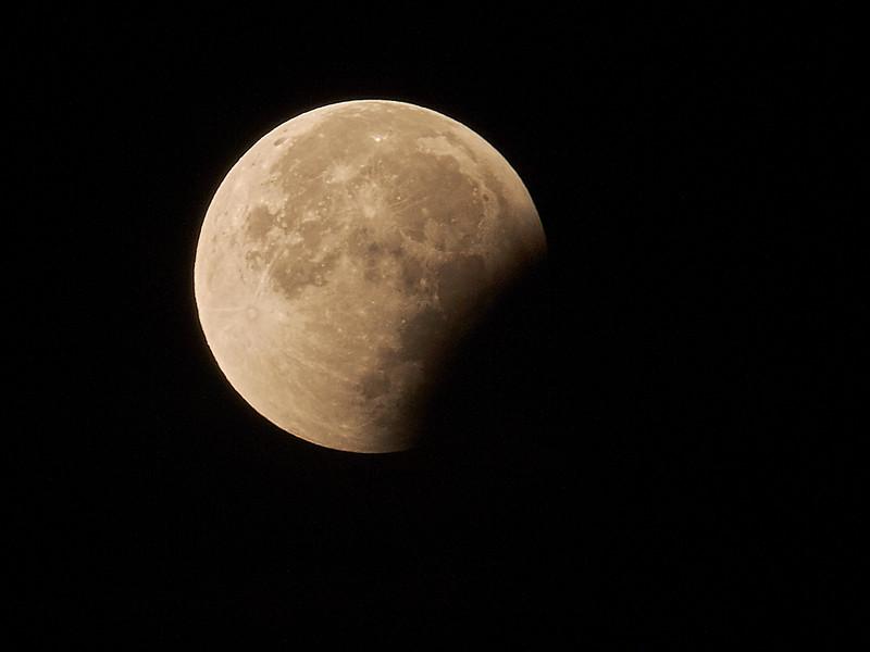 Lune - Fin de l'éclipse du 28 septembre 2015