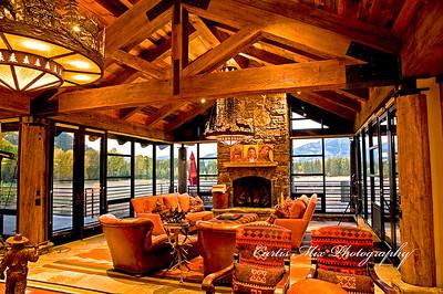 Living room. Stillwater estate, Jackson wyoming.