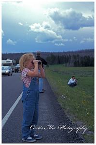 Ashley at Yellowstone.