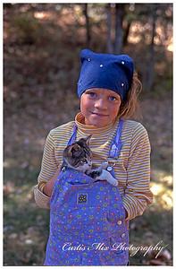 Kelli with a kitten.