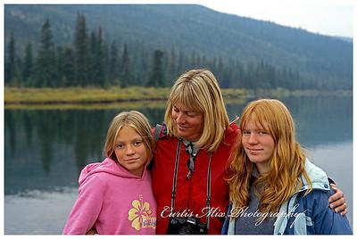 The girls at Wonder lake.