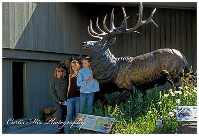 The girls at Jackson Hole.