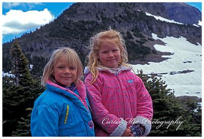 Kelli and Ashley at Glacier.