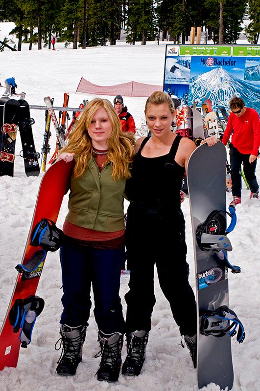 Ashley and Kelli at Mt. Bachelor.