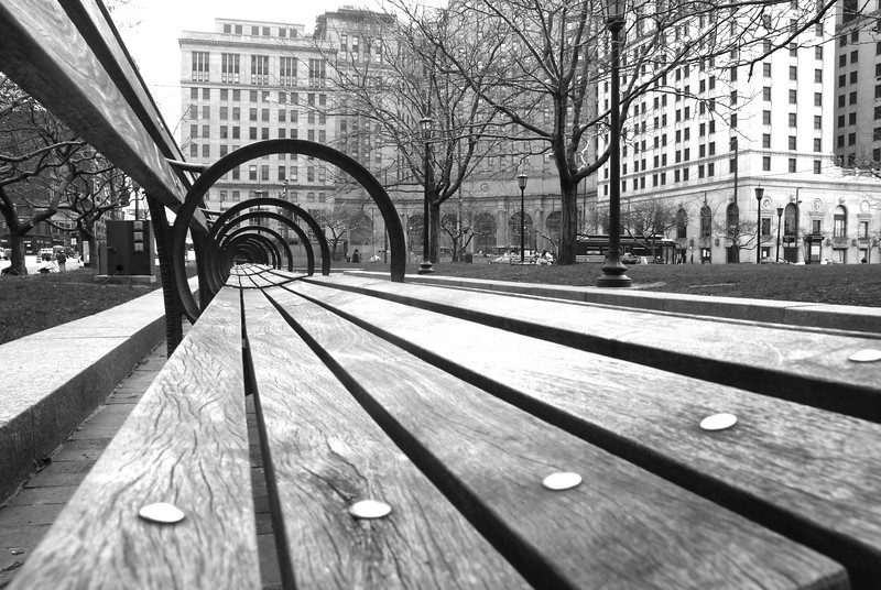 Endless Waiting - Taken in Cleveland, OH in April of this year (2007). Benches in Tower City plaza.