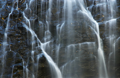 Close up of Crabtree Falls, near the Blue Ridge Parkway, North Carolina.