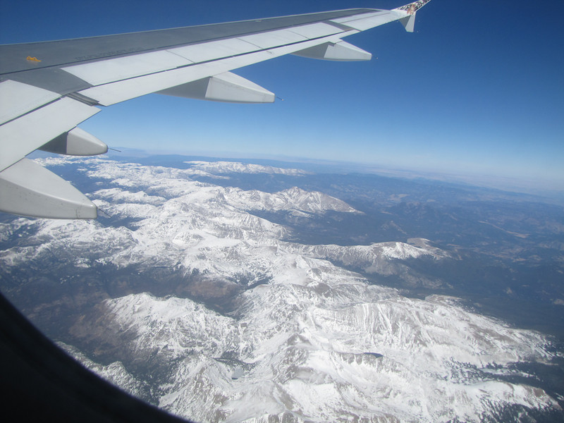 flying Denver - Portland<br /> continental divide