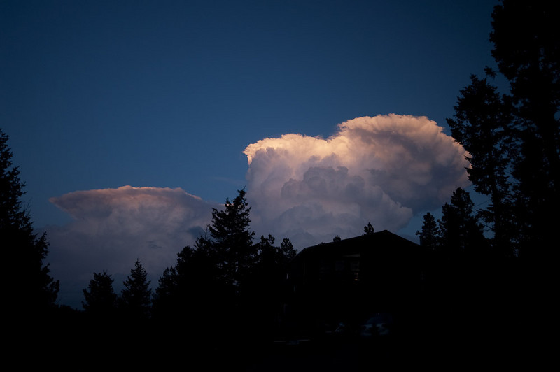 Towering thunderheads over the plains