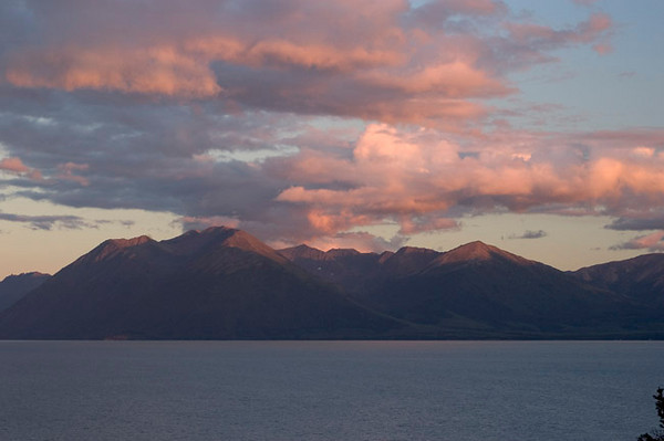 These clouds were photographed at near sunset at an overlook near McHugh Creek along Turnagin Arm, South of Anchorage, Alaska.