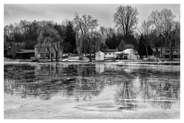 February 21, 2012 <br /> The ice has been melting and it rained a little today.  This had made a nice reflective surface.