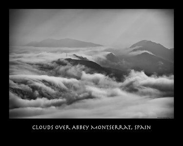 Clouds Over Abbey Montserrat, Spain 2341FDyn