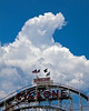 The clouds nicely framed the historic (and possibly injurious) Cyclone roller coaster!
