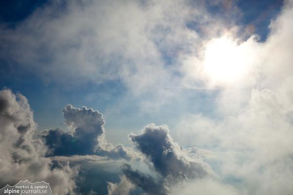 Clouds near Aiguille d'Bionassay