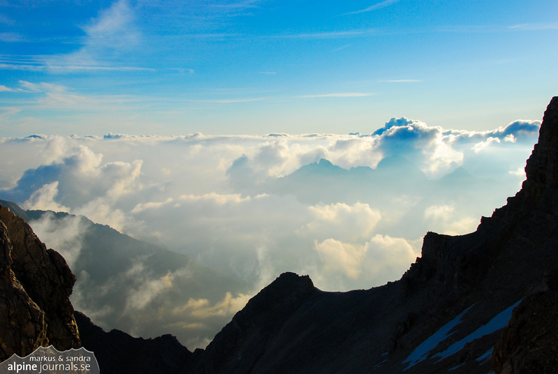 Clouds over Karwendel mountains