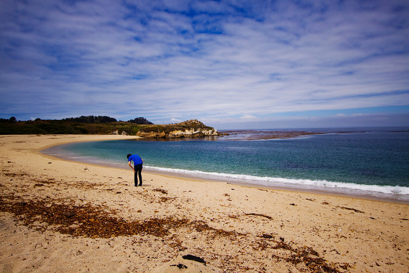 Chris looking for rocks in Big Sur