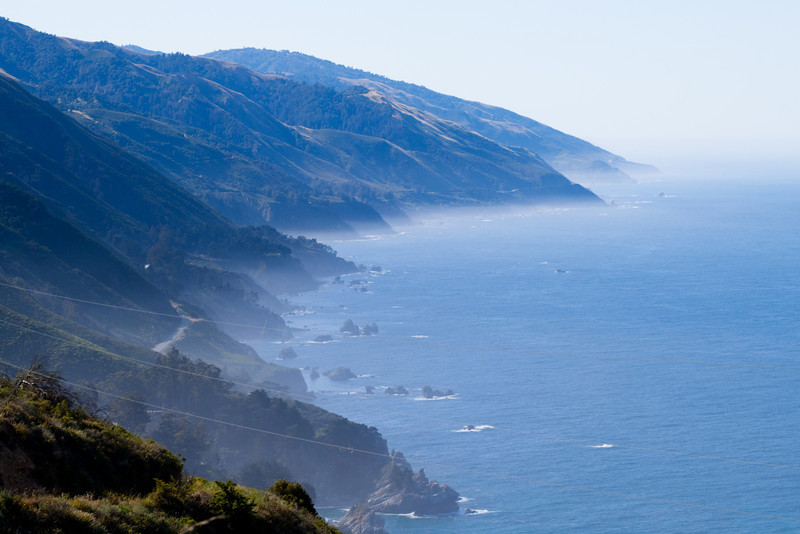 Some sea fog in Big Sur.