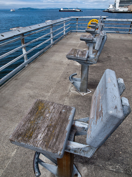 Public fishing pier in Seattle.
