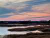 High in an observation tower, I shot the sunset at Parker River NWR. Not much color was on display, but it was a good show anyway.