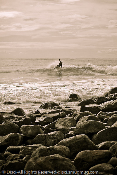 """Canvas Surfing"" (Alternate Processing) - Burleigh Heads, Gold Coast, Queensland, Australia - LR2 Preset: ""Matt's  300 Look - Strong""."