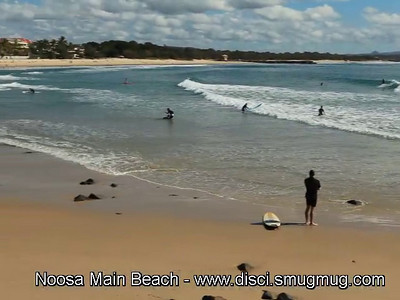 Short SD Video: Noosa Main Beach, Sunshine Coast, Queensland, Australia.
