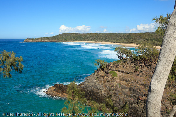 Alexandria Bay, as seen from Hells Gates - Noosa National Park, Sunshine Coast, Queensland, Australia; 13 July 2010.