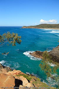 Alexandria Bay, as seen from Hells Gates - Noosa National Park, Sunshine Coast, Queensland, Australia; 13 July 2010.