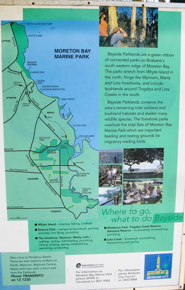 Bayside - Map - Information - Wynnum Mangrove Boardwalk & Wynnum North Reserve; Wynnum North, Brisbane, Queensland, Australia; 17 October 2012. Photos by Des Thureson