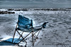 Abandoned lookout chair facing the Atlantic Ocean   #790