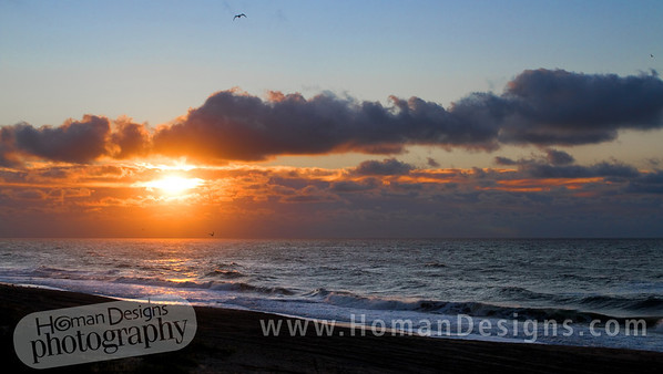 Oct 14: Sunrise over the Atlantic Ocean at Emerald Isle.