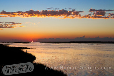 Oct. 13: Sunset over Bogue Sound photographed from Emerald Isle.