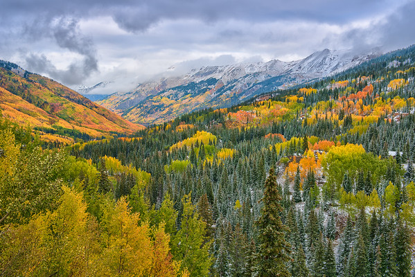Snowy Autumn Morning at Red Mountain Pass
