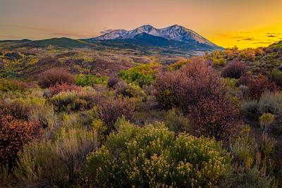 Sunset and Mount Sopris, Colorado