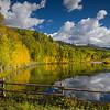 Private pond near Telluride