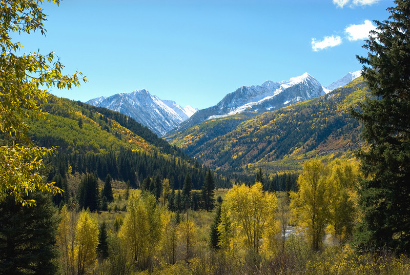 Crystal River Valley in late September as the foliage changes.