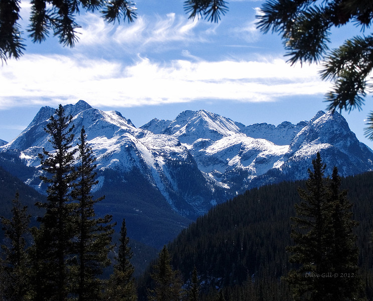 A view of the San Juan Mountains outside of Durango, Colorado.