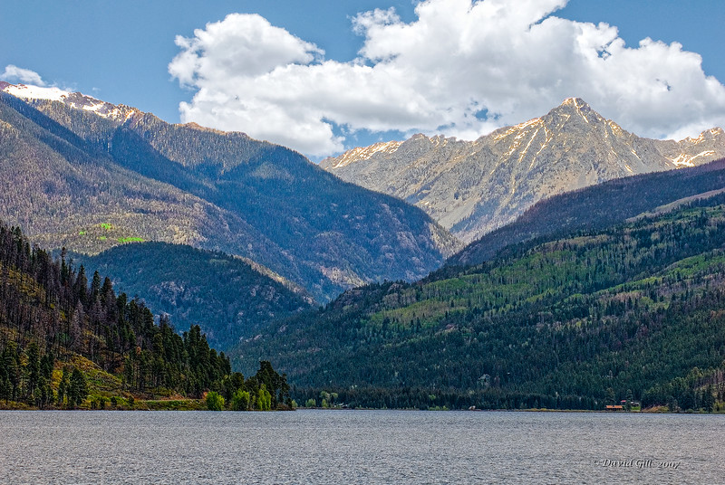 Mid May on Lake Vallecito in the San Juan Mountains outside of Durango, Colorado