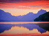 First light on Lake McDonald, Galcier, NP, Montana.