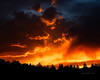 A firey sunset in western Douglas County, Colorado, at the time of the Hayman fire (still Colorado's largest wildfire).
