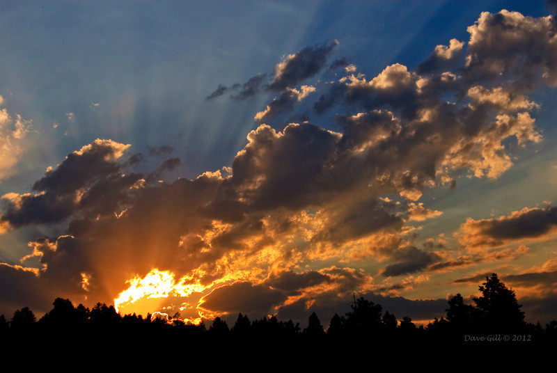 A Colorado sunset in the foothills.  Douglas County, Colorado.