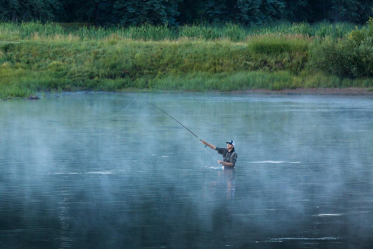 Fishing Williams Creek Reservoir