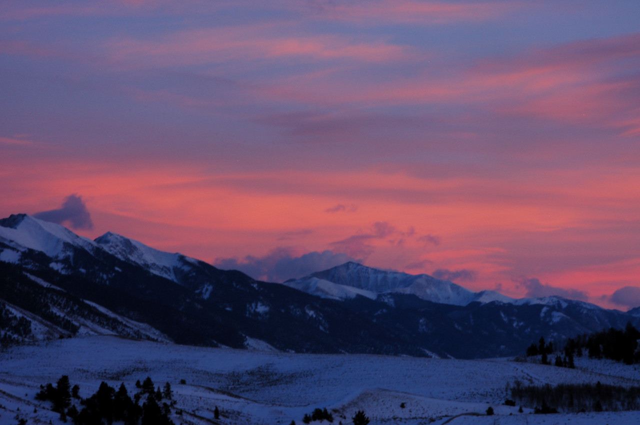 Sunset from the top of Poncha Pass