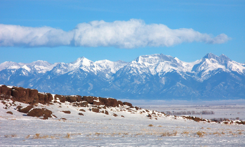 Sangre De Cristos from the Saquache Public Lands